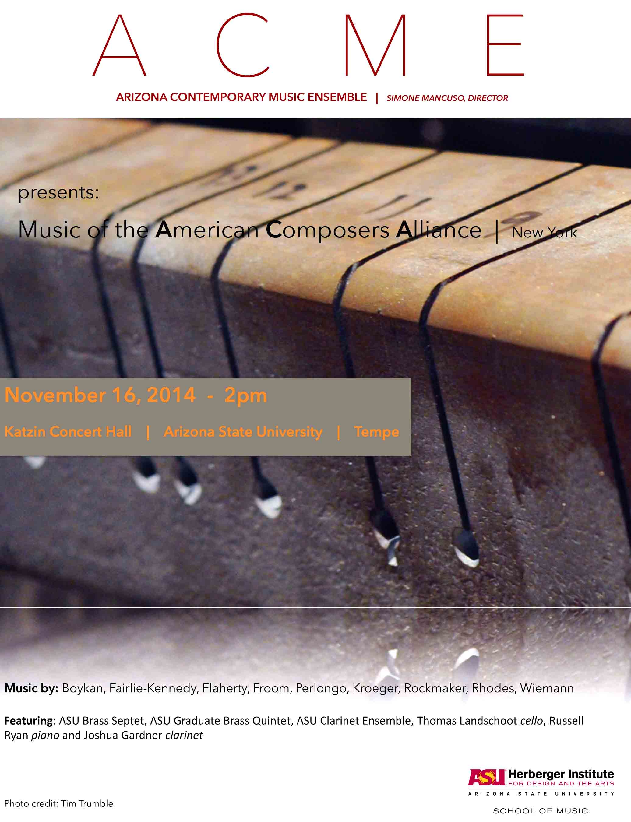 Arizona Contemporary Music Ensemble (ACME) performs music by