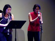 Clarice Assad, composer/vocalist with Eileen Mack, clarinet at the ACA Festival 2010