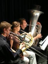 Tillis Brass Quintet players