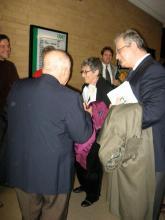 Richard Brooks (R) with Arnold Greissle-Schönberg and Nancy Bogen