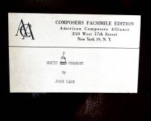 First Edition, Music of Changes