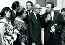 Ursula Mamlok (L) with Vally Weigl, Aaron Copland, 1969