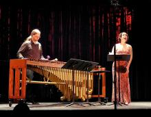 Stephen Solook and Tiffany Du Mouchelle perform Tania Léon and Elliott Carter