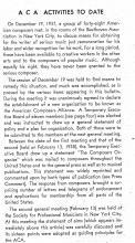 ACA Bulletin excerpt, 1938