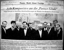 Wolfgang Fortner's class in Freiburg, 1965