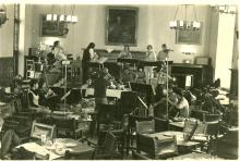 """Rehearsal of """"Voyage in a White Building"""""""