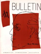 cover of ACA Bulletin magazine, Vol. 5.2 (1955)